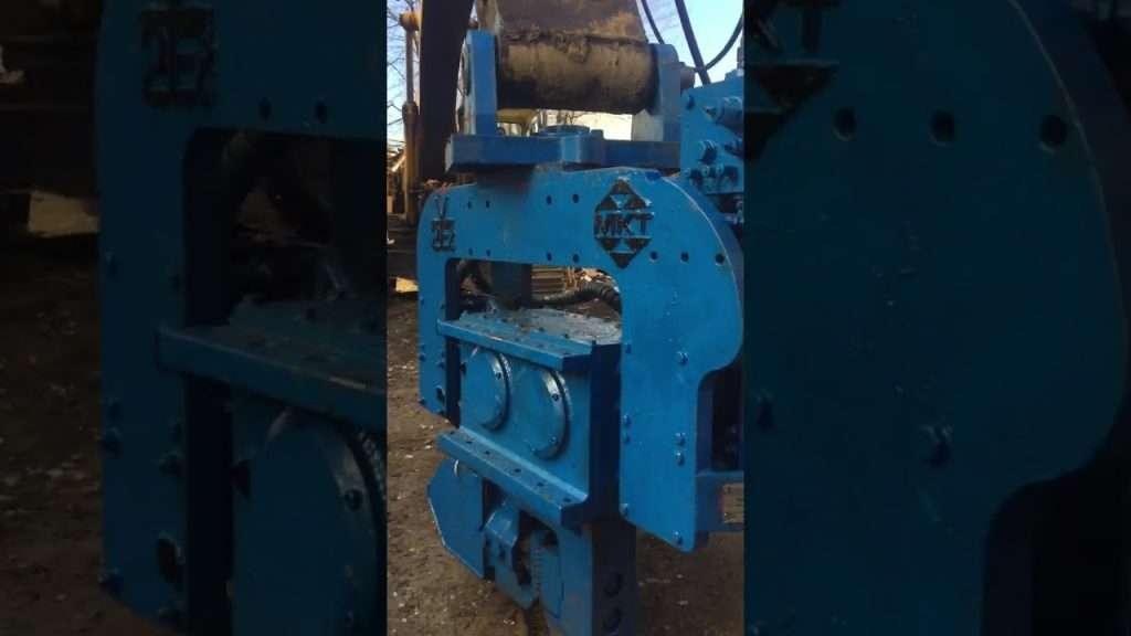 MKT V-2E Excavator Mounted Vibratory Hammer Video