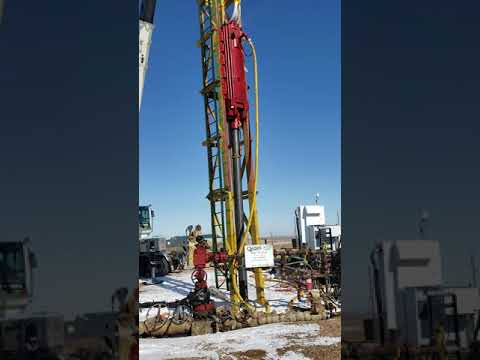 MKT 10B3 Driving Pipe in Swinging Pile Leads Video